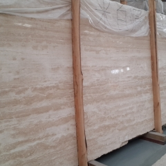Light Beige Travertine Marble Flooring Wall Tiles and Slabs