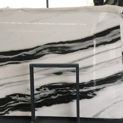 Panda White Marble Flooring Wall Tiles and Slabs