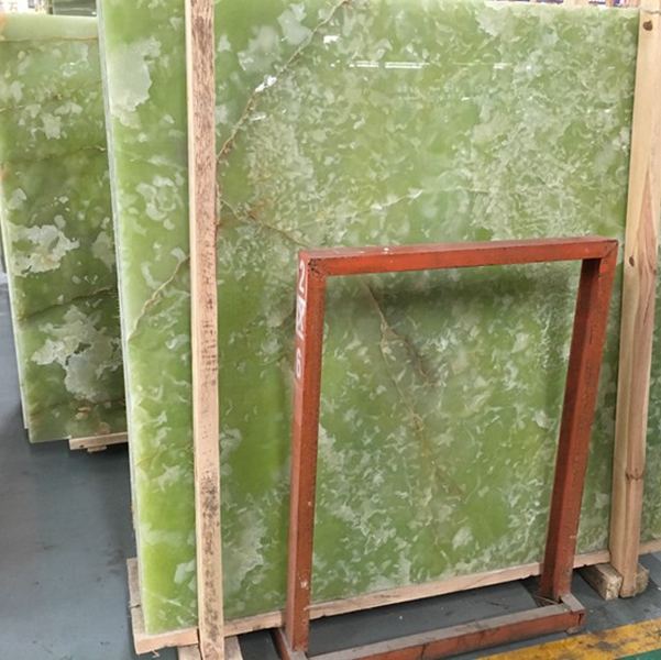 Translucent Green Onyx Marble Slabs Countertops Table Top Tiles