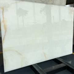 Translucent White Onyx Marble Slabs Countertops Table Top Tiles