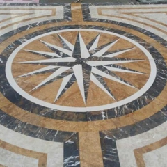 Marble Floor Medallion Tile Lowes
