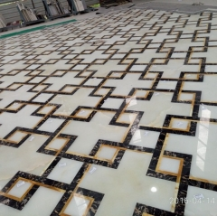 Marble Inlay Flooring Design