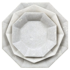 White Marble Plates For Sale