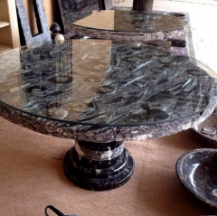 Moroccan Fossil Marble Tables