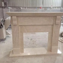 Natural Stone Marble Fireplace Surround