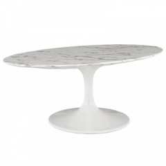 Oval Granite Top Dining Table