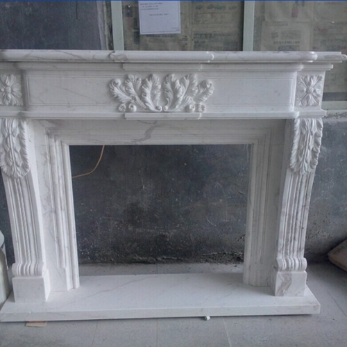 White Marble Electric Fireplaces
